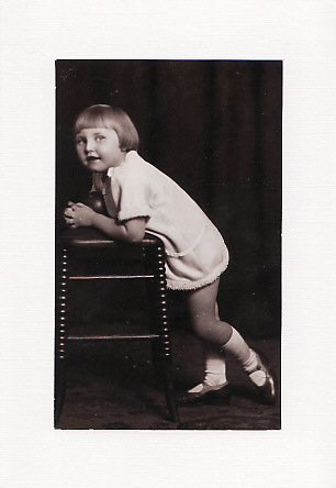 SALE - Girl Posing Image - Greetings Card or Notelet - Old Photo Print
