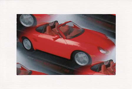 SALE - Red Porsche Car Image - Male Greetings Card - Photo Print