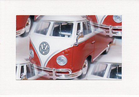 SALE - Red Campervan Image - Male Greetings Card - Photo Print
