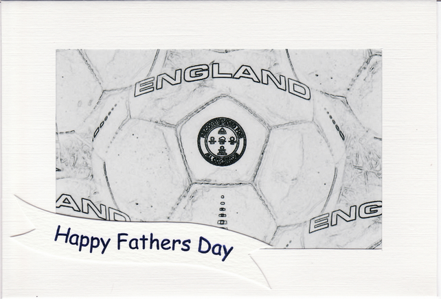 SALE - FATHERS DAY  - Greetings Card Or Notelet - ENGLAND FOOTBALL  Photo Print