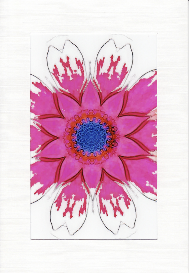 SALE - Kaleidoscope Image 11  - Greetings Card or Notelet -  Photo Print