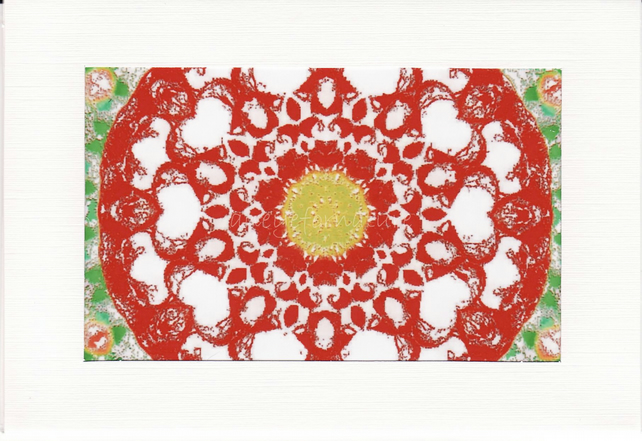 SALE - Kaleidoscope Image 12  - Greetings Card or Notelet -  Photo Print