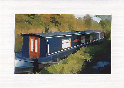 SALE - Barge Image - Greetings Card Or Notelet - Photo Print