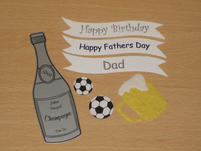 CLEARANCE -- Craft Supplies Embellishment Bundle Male DAD FATHER'S DAY BIRTHDAY