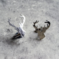 Solid silver stag cufflinks