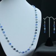 SALE: Out of the Blue Necklace and Earrings