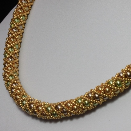 SALE: Gold Netted Treasure Necklace
