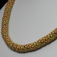 Gold Netted Treasure Necklace