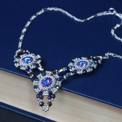 SALE: Heliotrope Rivoli Trio Necklace