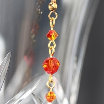 Swarovski Fireopal Crystal Earrings