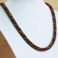 Earth Tones Russian Spiral Necklace