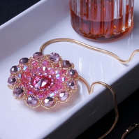 SALE: Pink Flower Pendant