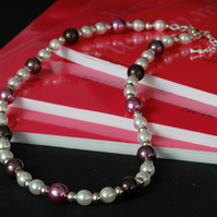 Pearly Pink Necklace