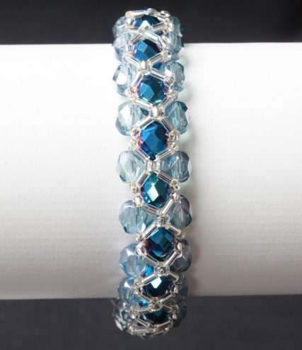 Petrol and Pale Blue Bracelet