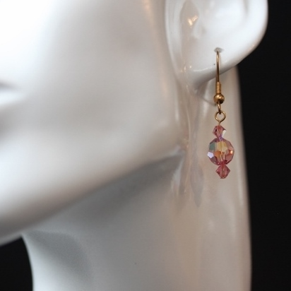 Sparkly Pink Swarovski Earrings