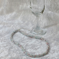 Pearly White Russian Spiral Necklace