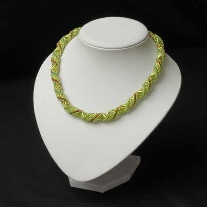 Pale Green Russian Spiral Necklace