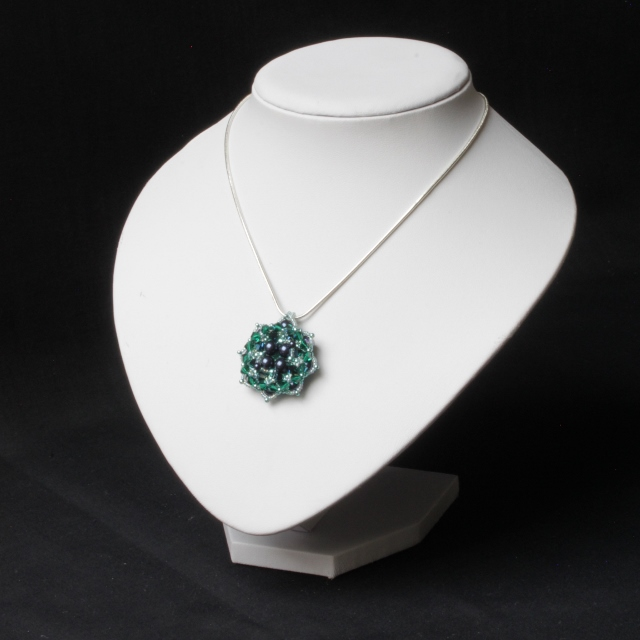 Green and Blue Flower Pendant