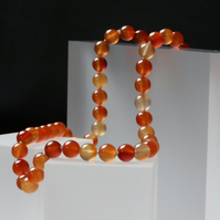 Natural Carnelian Necklace with Pewter Toggle Clasp