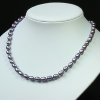 Mauve Freshwater Pearl Necklace