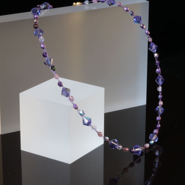 Mauve (Tanzanite Colour) Wire Necklace