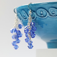 Sapphire Blue Cascade Earrings