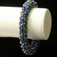 Soft Weave Bangle in Blue and Green