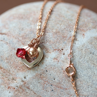 Rose Gold and Swarovski Pendant Necklace
