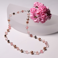 Swarovski Necklace in Shades of Rose Gold