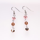 Swarovski Dangle Earrings in Shades of Rose Gold