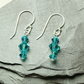 Swarovski  Indicolite Crystal Earrings with Sterling Silver