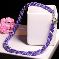 Purple Russian Spiral Necklace