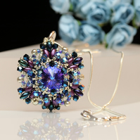 Sparkly Heliotrope and Purple Ceres Pendant