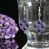 Purple Pearly Earrings