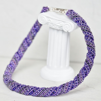 Russian Spiral Necklace in Shades of Purple