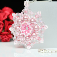 Large Star Pendant in Pastel Pink