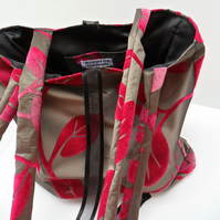 Black and pink shoulder bag