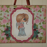 Cute shabby chic hanger, wall decoration. FREE p&p