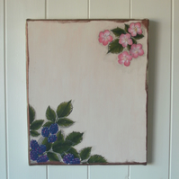 Canvas wall art - bramble and blossoms FREE p&p