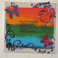 Canvas wall art - rainbow Discoveries FREE p&p