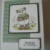 Thank you for everything card FREE p&p