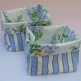 Fabric storage boxes - nesting set of two FREE p&p