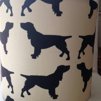 Lampshade in Spaniel Fabric - Handmade 20cm