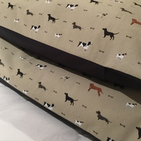 LARGE Deep Filled Large Pillow Dog Bed with Removable Dog Fabric