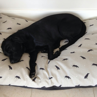 Spare Cover for Large Dog Bed 130cm x 83cm Any Fabric.
