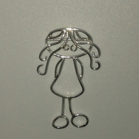 A pendant from a childs drawing in sterling silver. Perfect for Mothers day