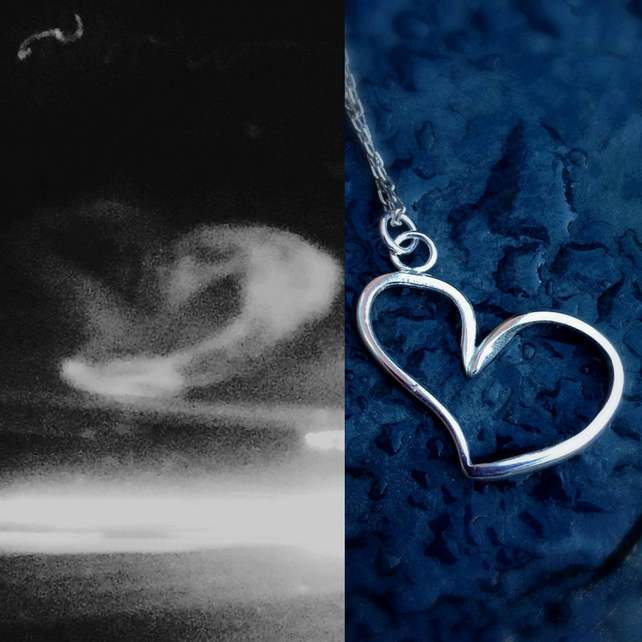 A sterling silver pendant from a window smudge. Perfect for Mother's Day