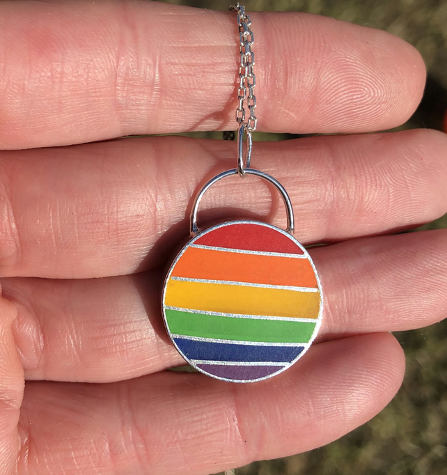 A Rainbow pendant to spread joy and hope.