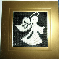 Cross Stitch Card - Christmas - Angel