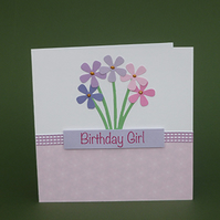 Birthday Girl - Blank Card